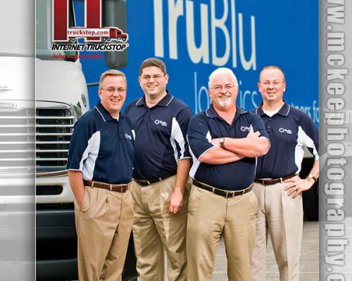 TruBlu Logistics cover shoot