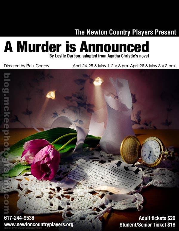 A Murder Is Announced – Agatha Christie one sheet poster