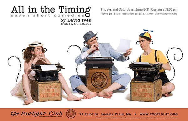 All in the Timing, Poster Photography and Design for the Footlight Club