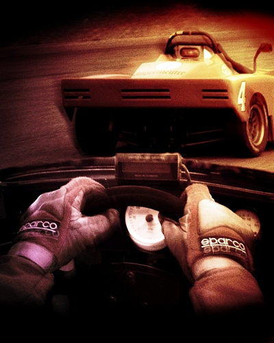 Racing with Sparco gloves