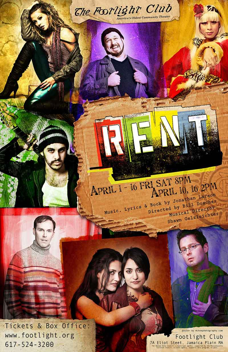 Making the RENT Poster...