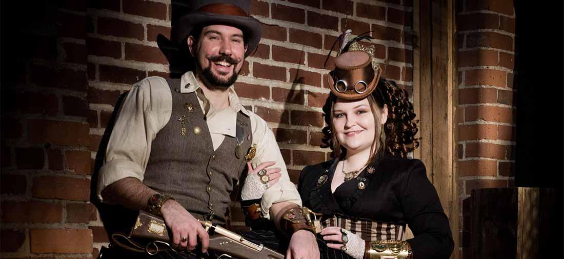 Nick and Jillian: Steampunk Portraits at the Studio