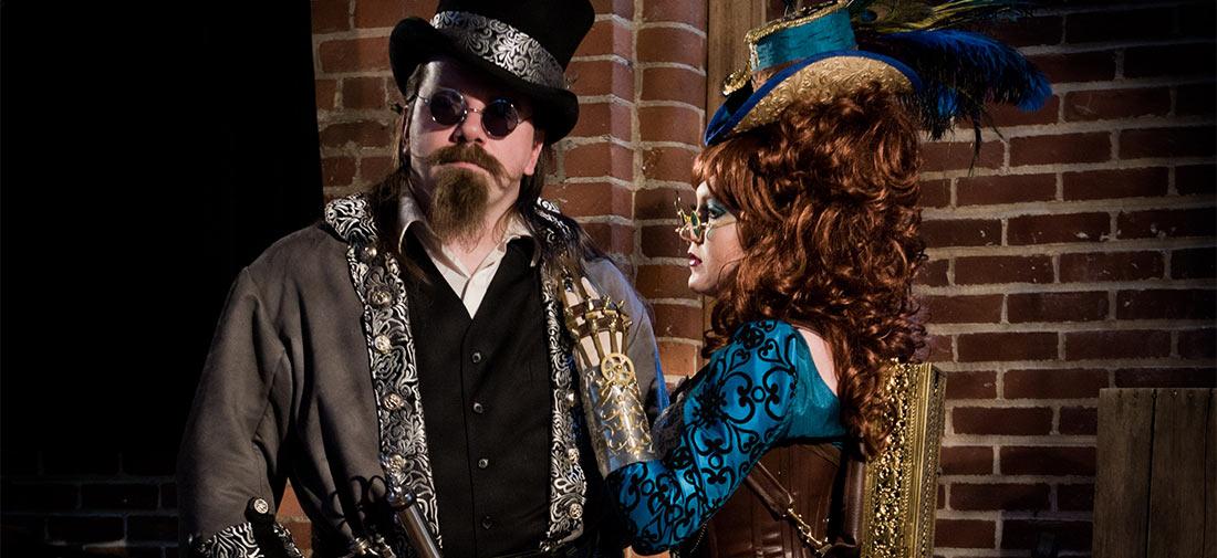 Madam Mercy and Dr. Phobeus –Steampunk Portraits at the Studio