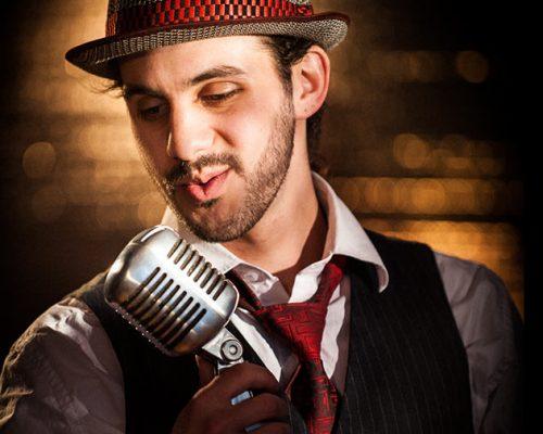 Joshua Rajman and radiator style microphone. r