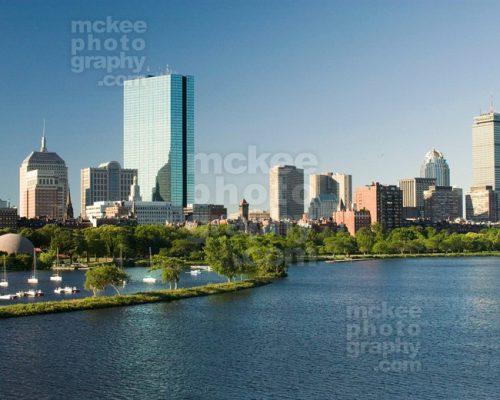 Boston Esplanade Stock Photo