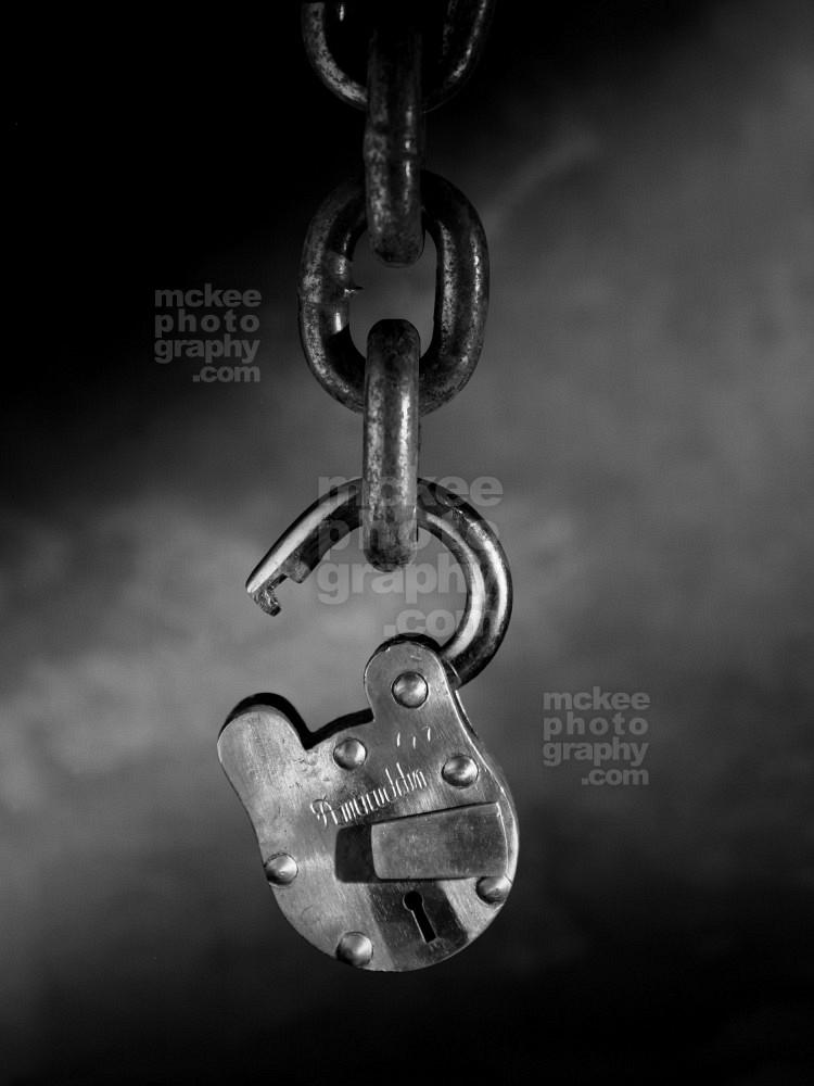 Unlocked and Free -Lock Stock Photo