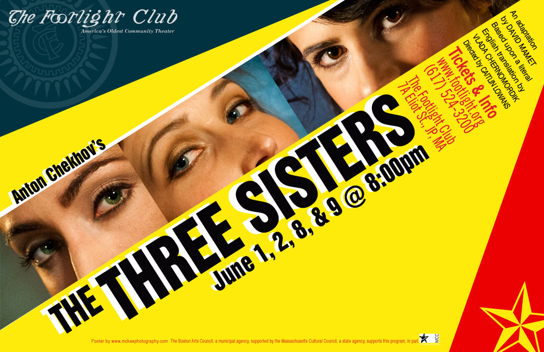 Anton Chekov's The Three Sisters poster