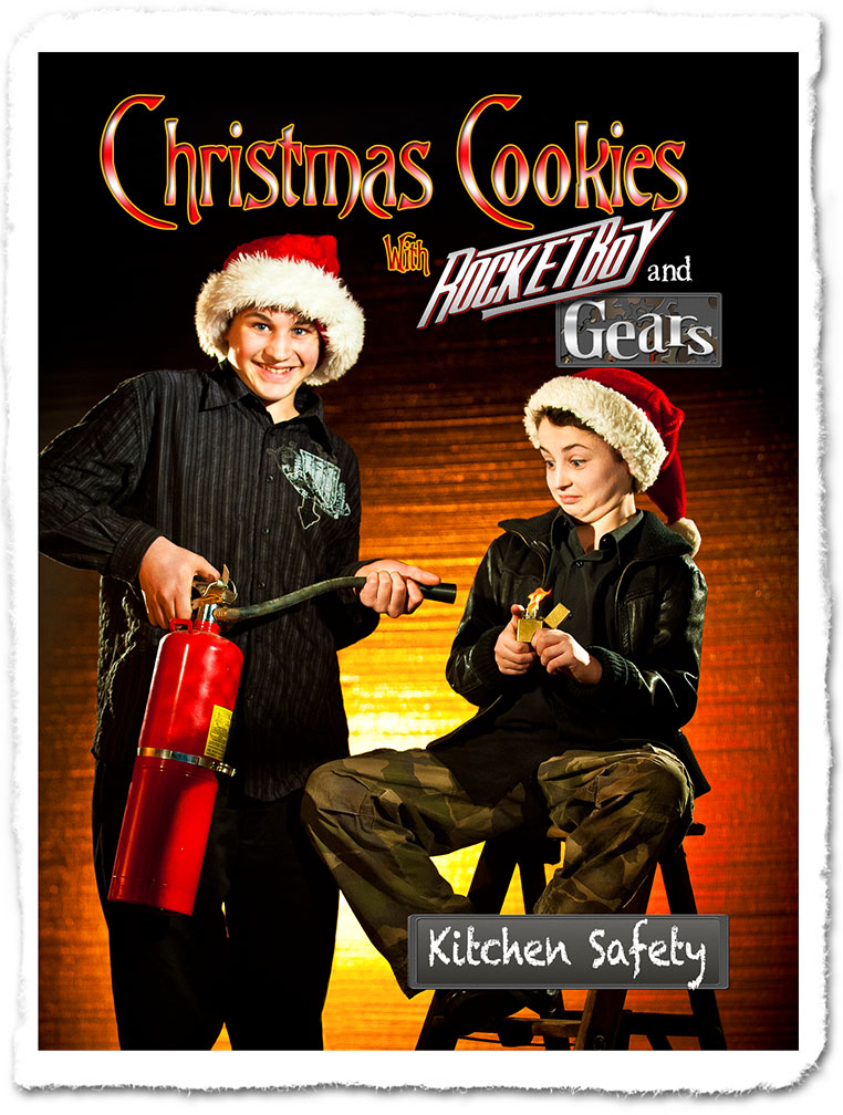 Christmas Cookies with Rocket Boy and Gears