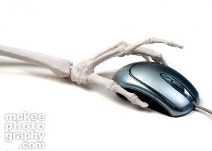 Boney Finger Clicking on Mouse