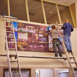 """New """"Community"""" Mural at Norwood Bank Lobby"""