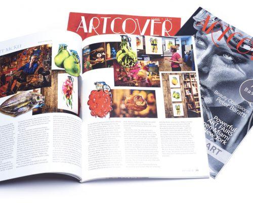Matt McKee Feature Artcover magazine spread featuring Matt McKee