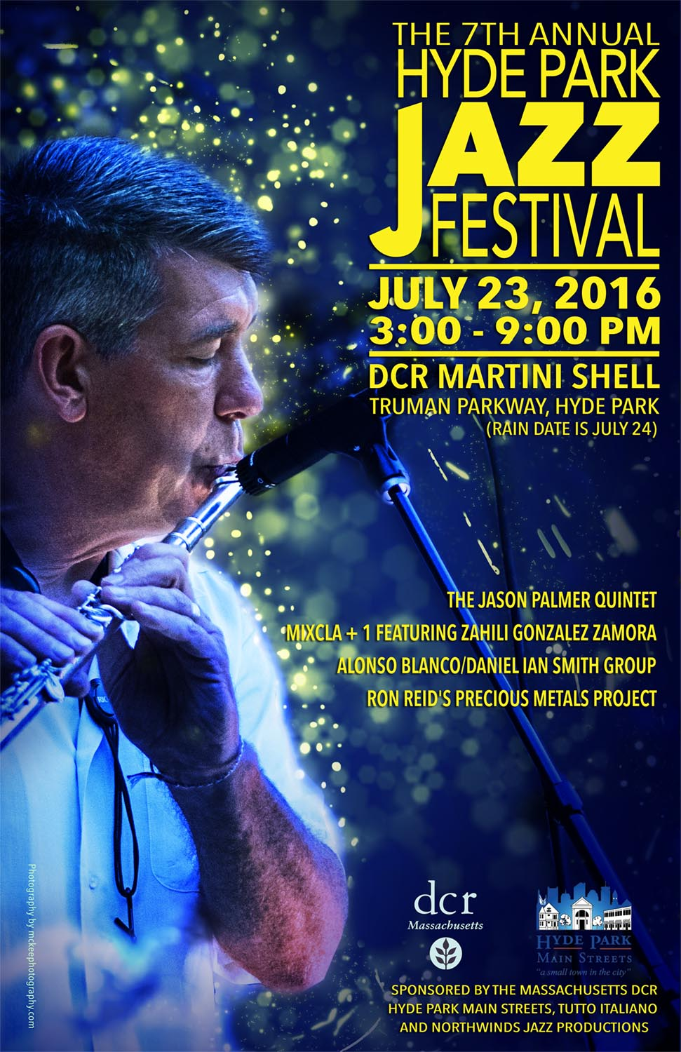 Hyde Park Jazz Festival Music Poster with text