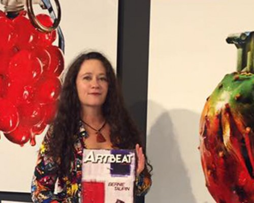 Artbeat Publisher Wendy Pitton and Cherry Bomb