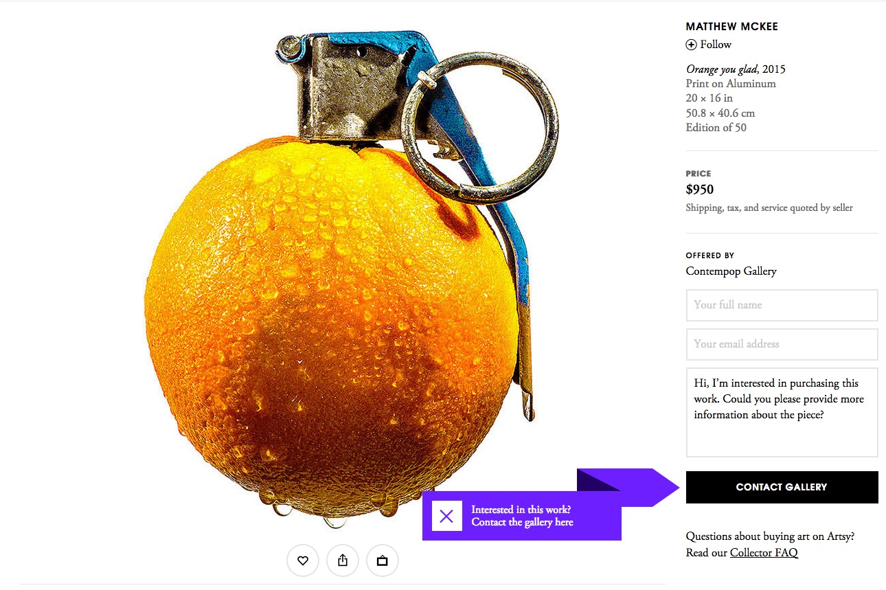 Orange You Glad?! on Artsy.com