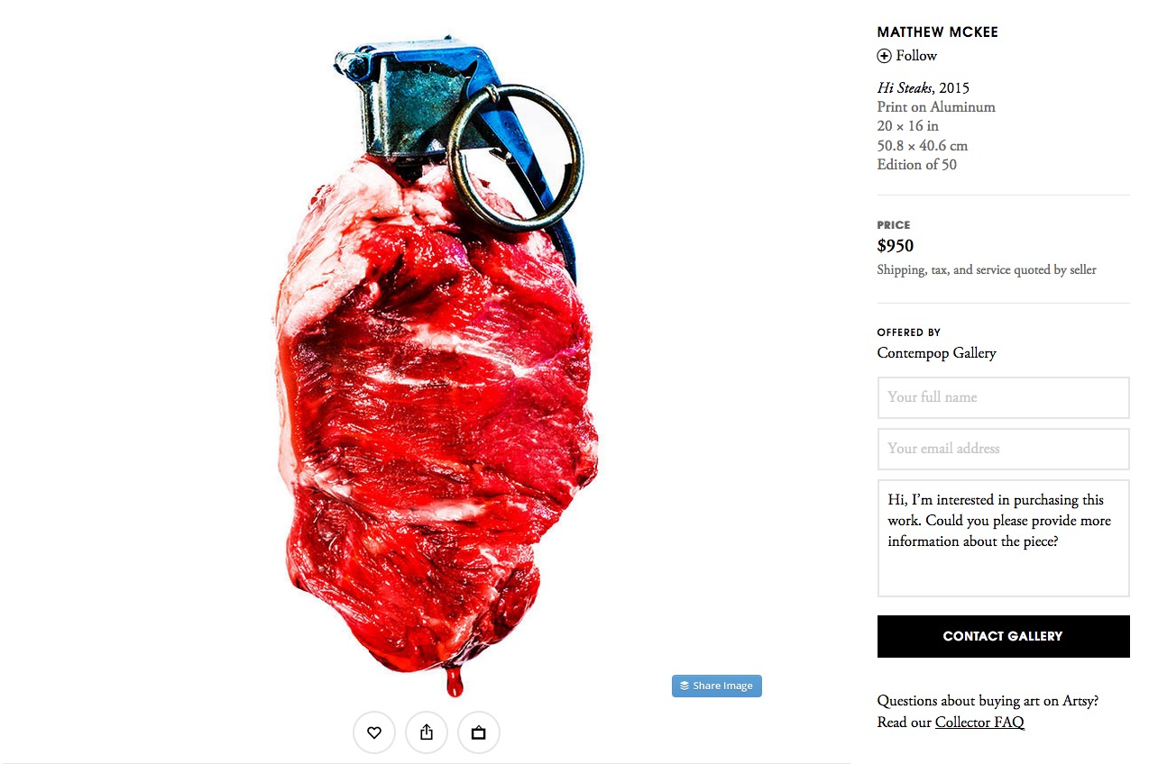 Hi, Steaks! on Artsy.com