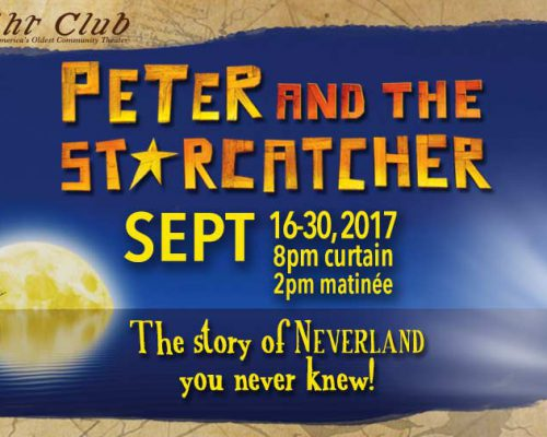 Peter and the Starcatcher poster by Matt McKee for The Footlight Club