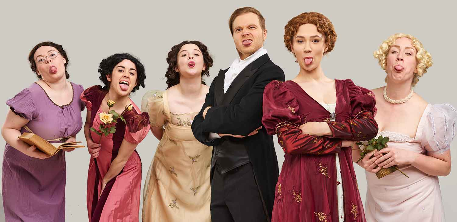The Pride and Prejudice Cast make their feelings known to the photographer!
