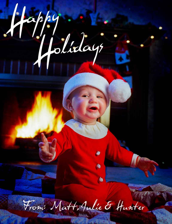 Hunter's First Studio Christmas Card