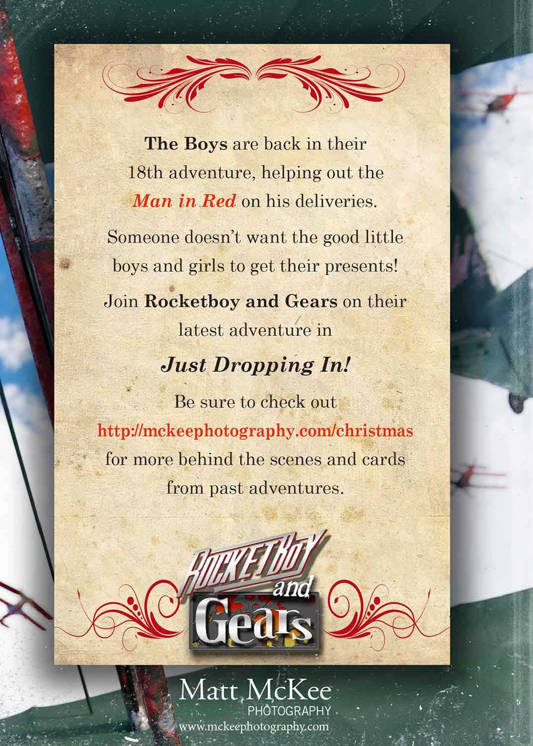 The Back Cover of Rocketboy and Gears