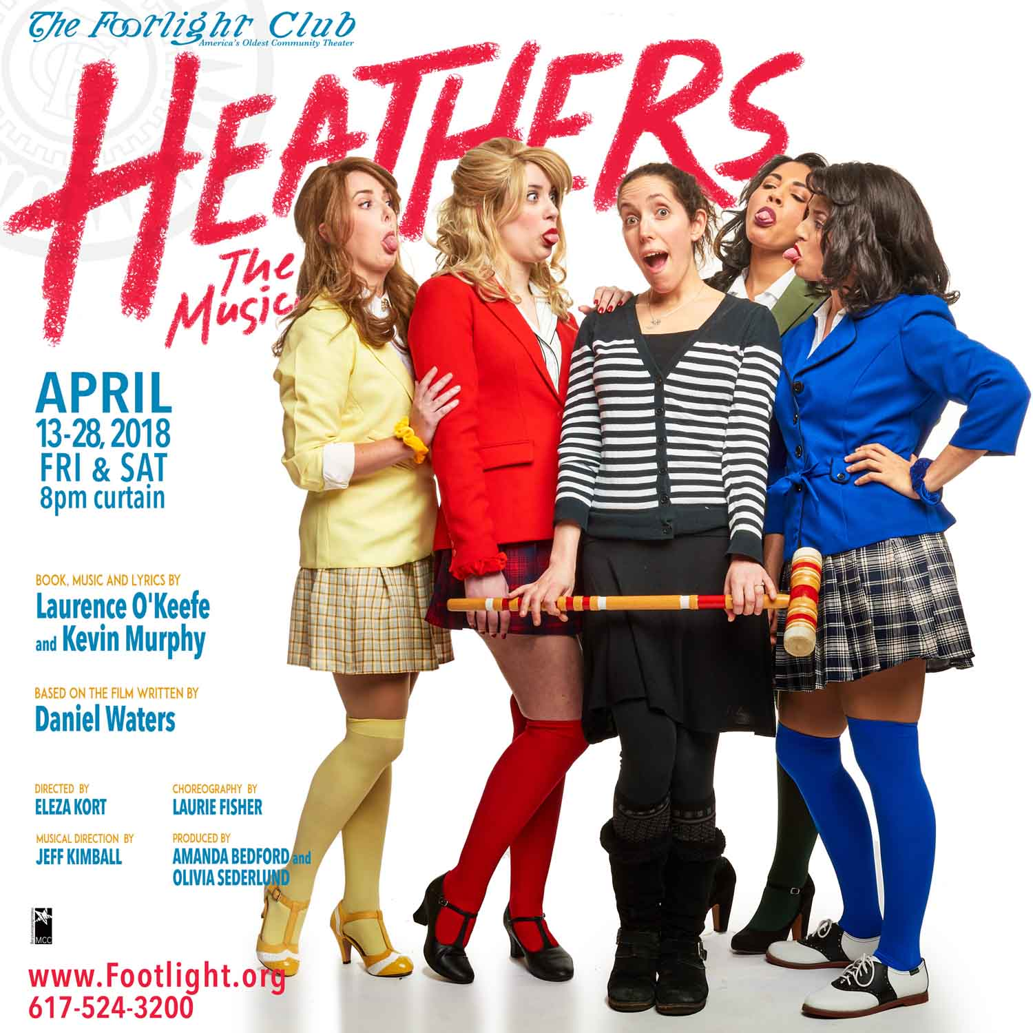 Heathers, The Musical cast with Director Eleza Kort