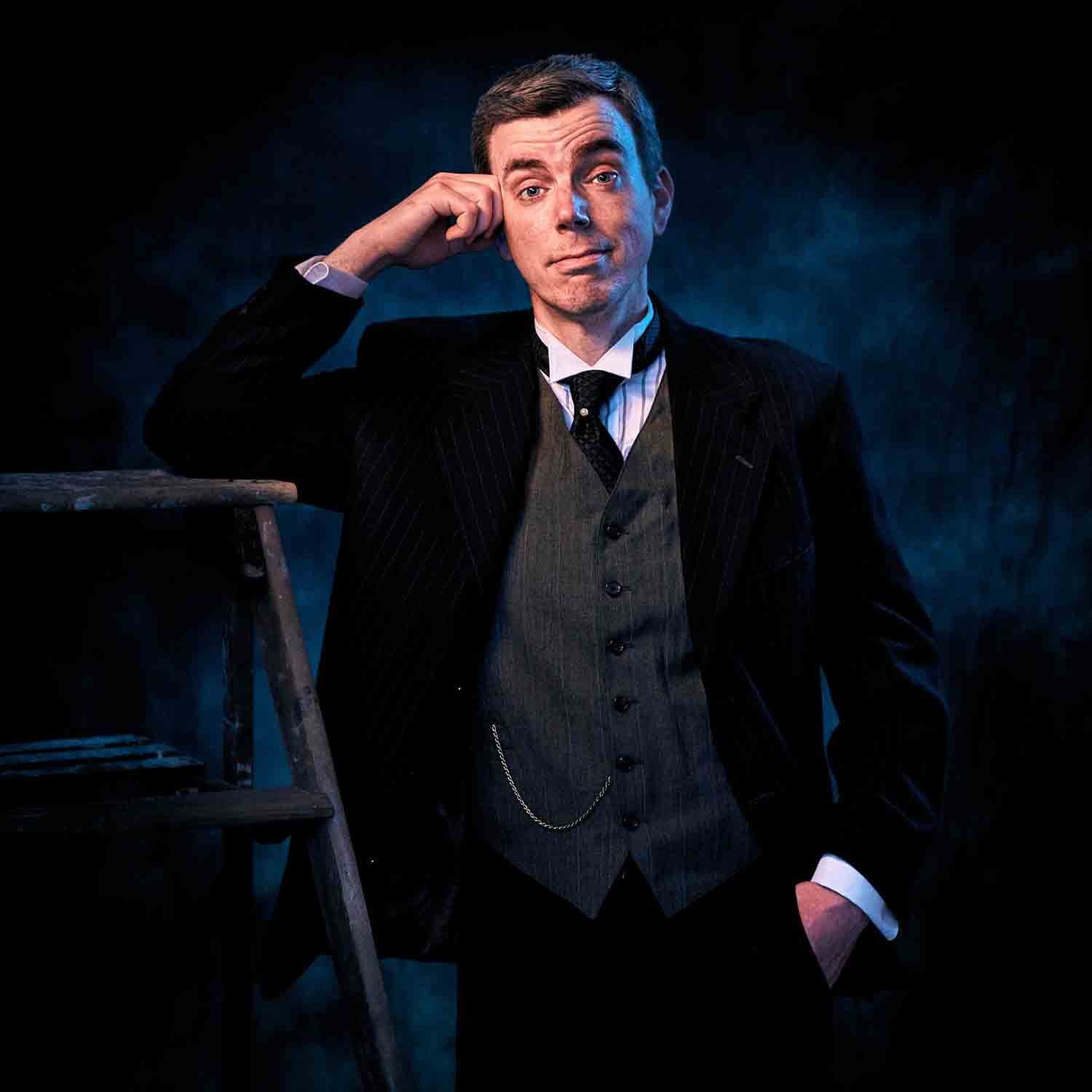 Patrick O'Hanlon as Dr. Frank Gibbs in Footlight Club's production of Our Town