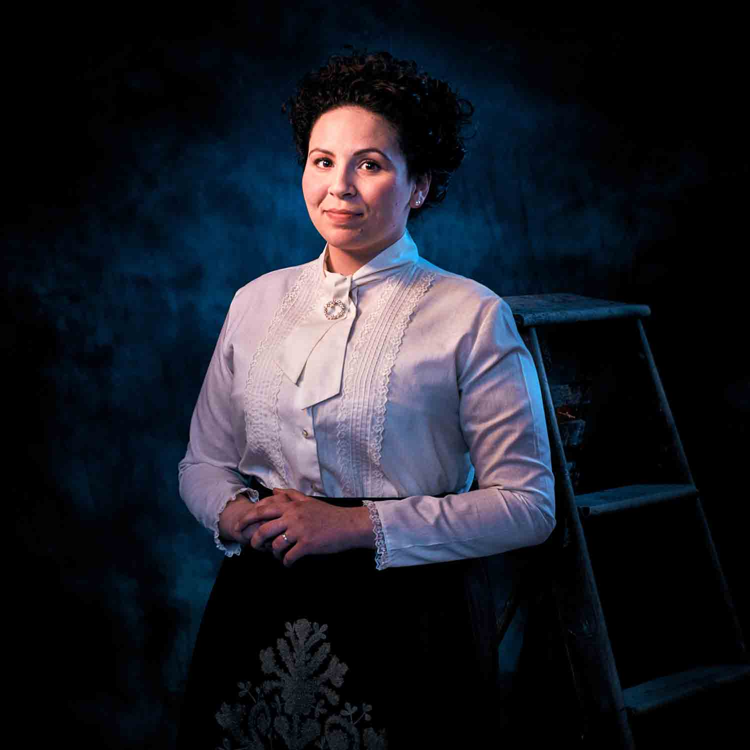 Rose Kanj as Mrs. Webb in Footlight Club's production of Our Town