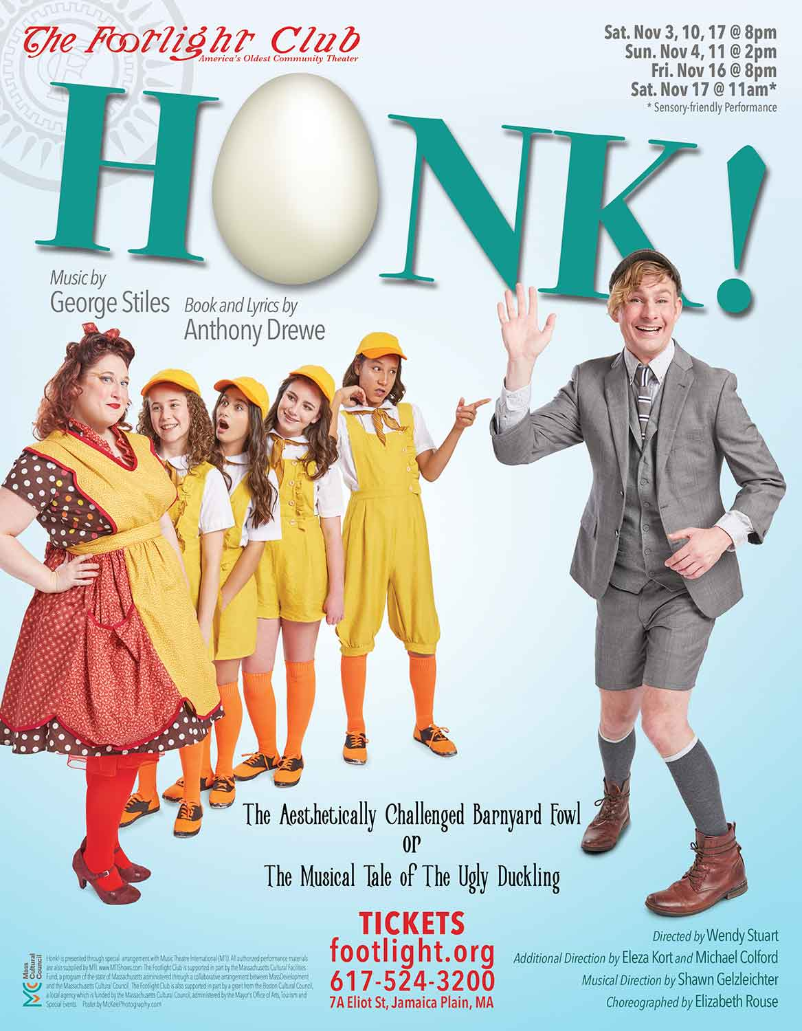 Honk! poster for the Footlight Club.