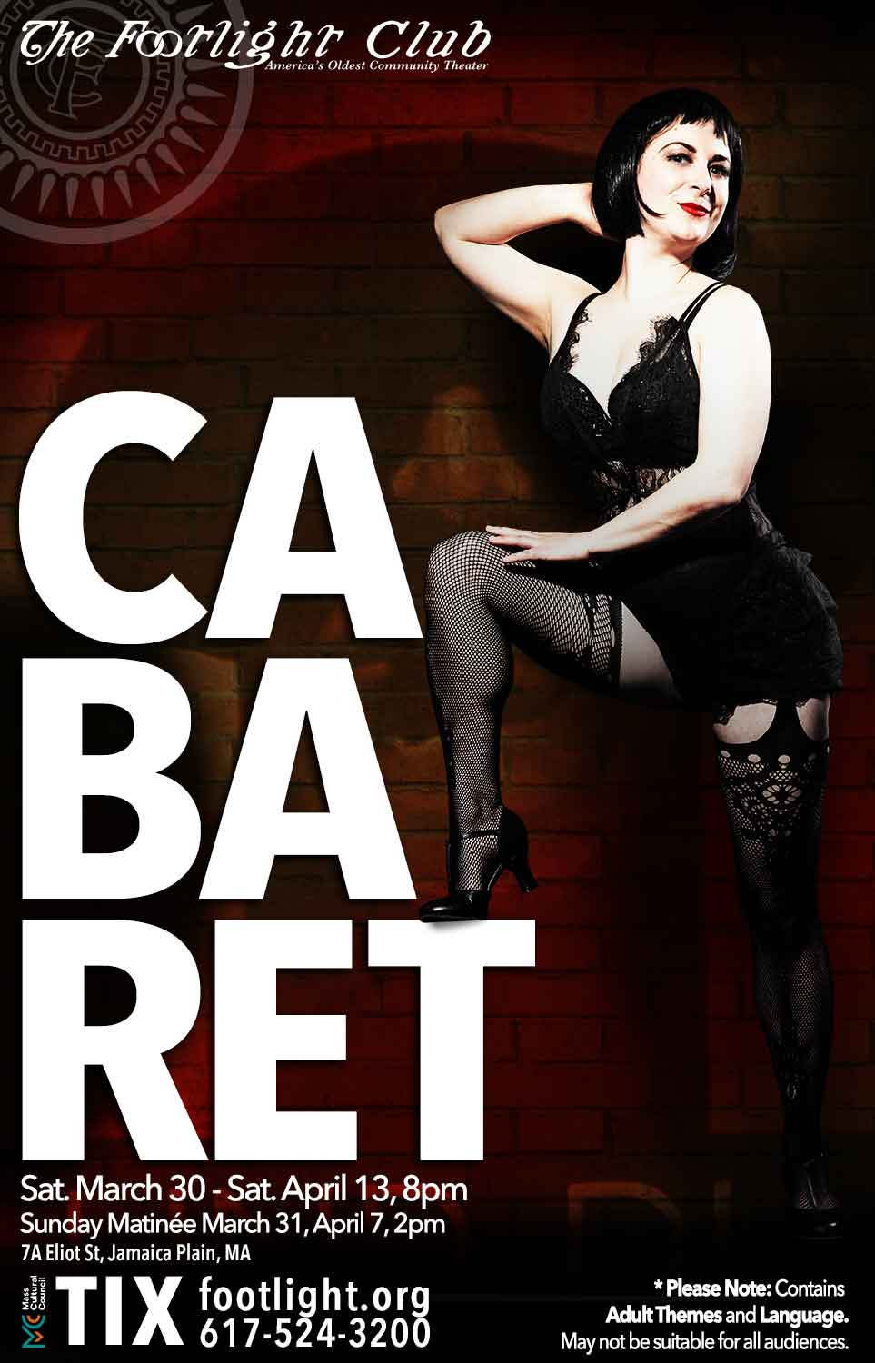 Perry Albert as Sally Bowles in the Footlight Club production of Cabaret