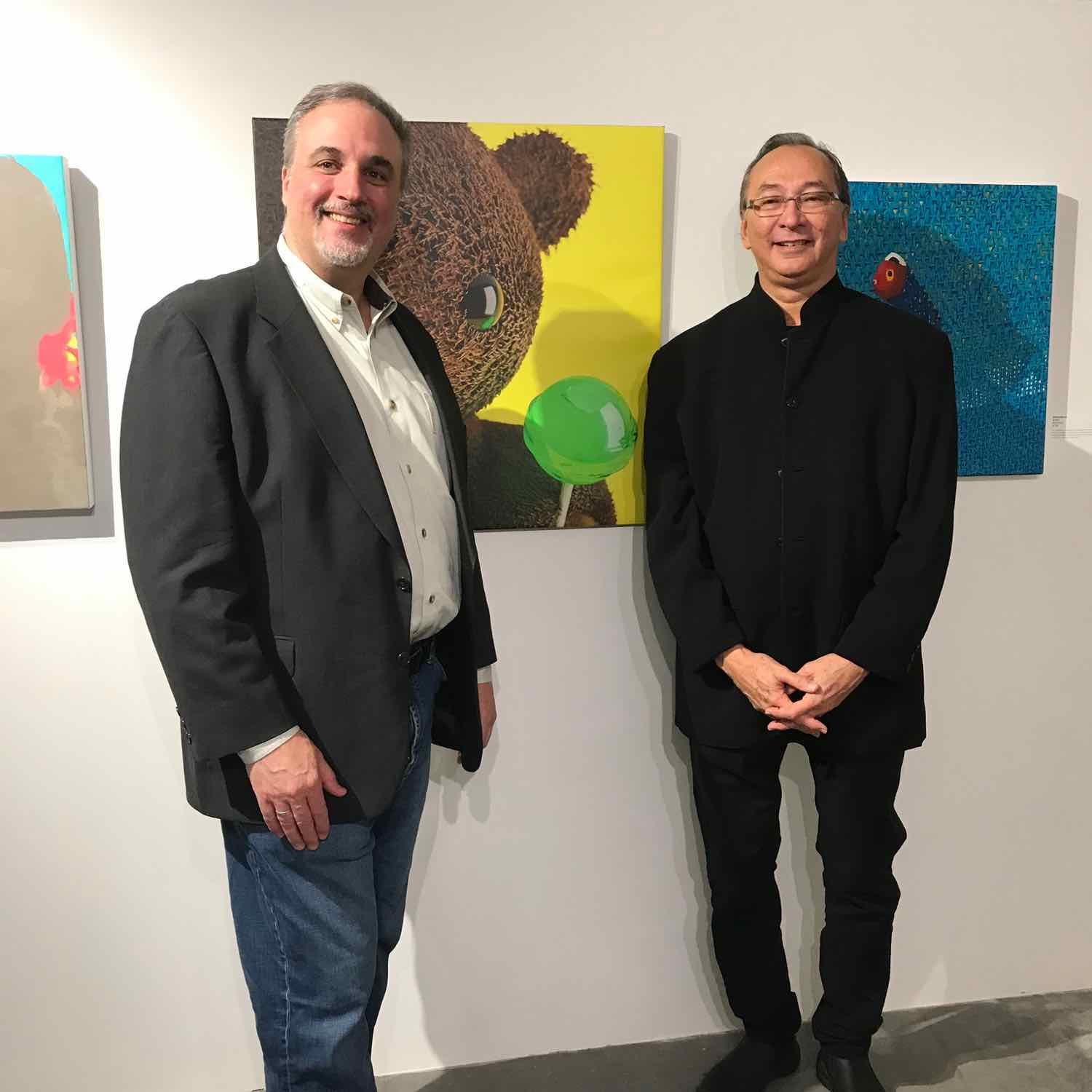 Me and Jurist Bill Stelling, from Kelley Stelling Contemporary in front of Sharing #1