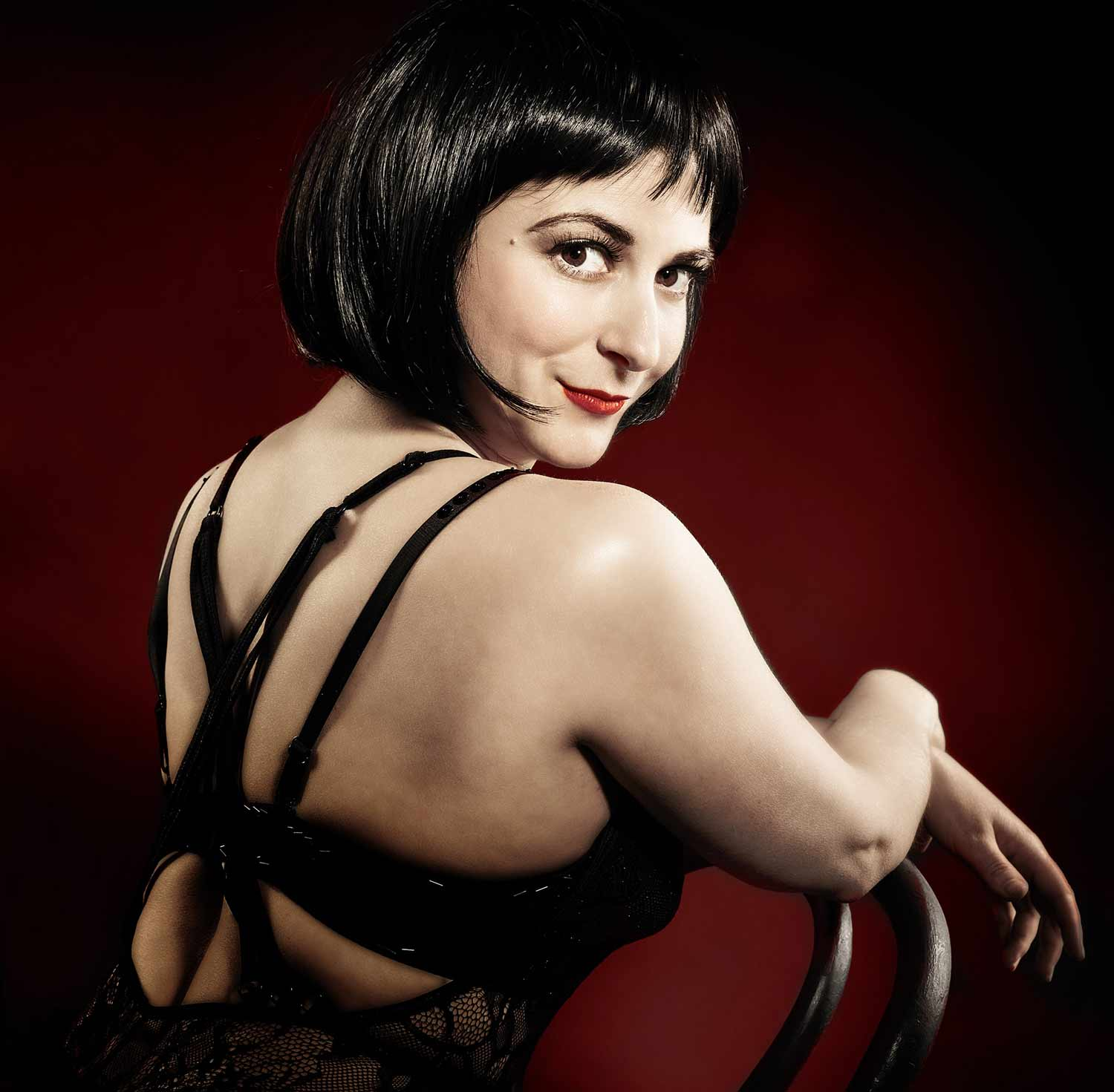 Perry Albert as Sally Bowels for the Footlight Production of Cabaret