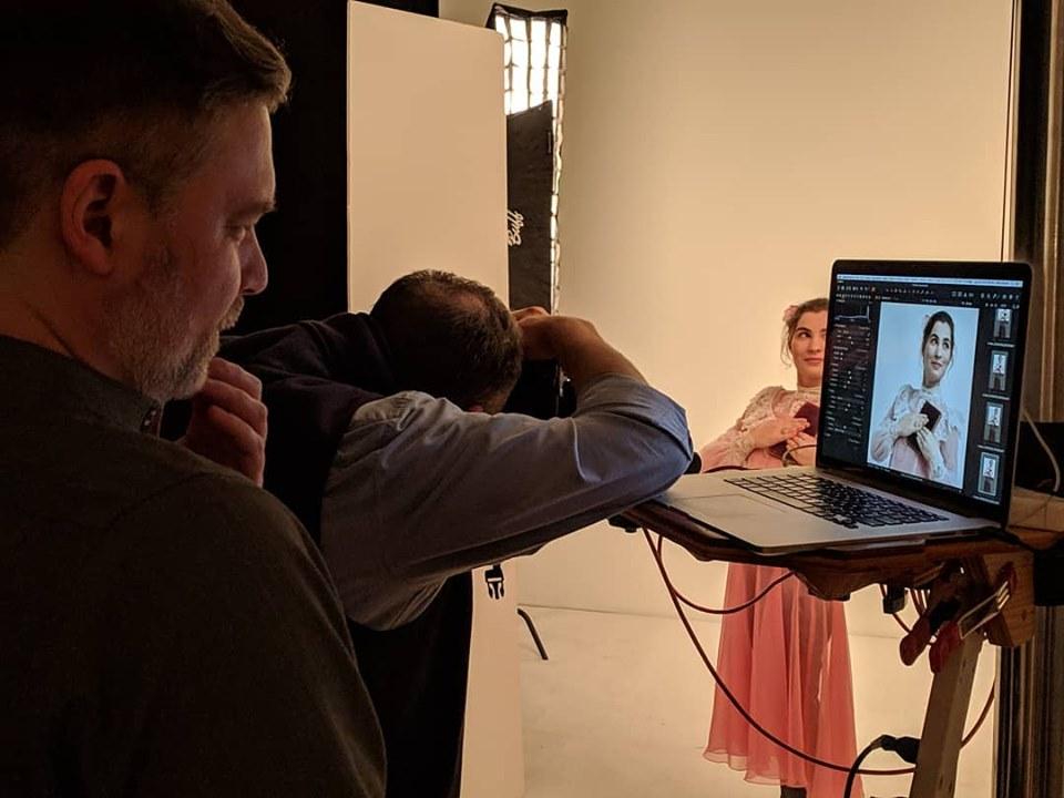 behind the scenes on the Earnest Shoot