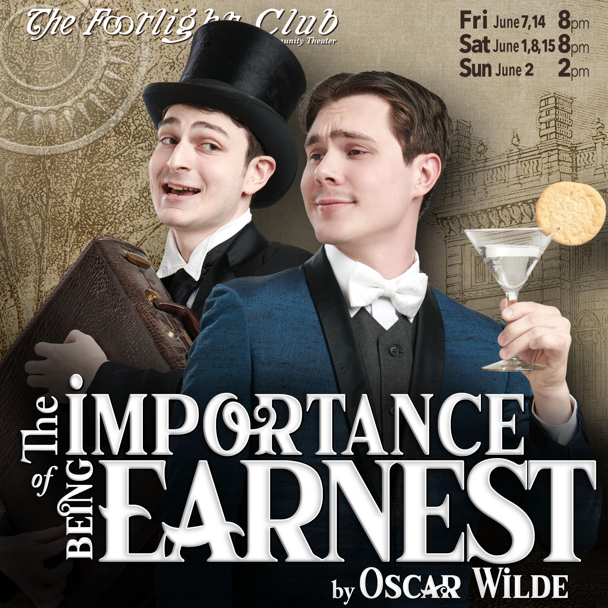 The Importance of Being Earnest play banner