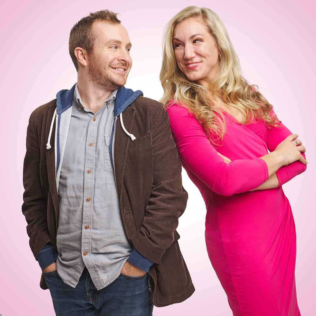 Character portrait of Jeff Mitchell as Emmett Forrest and Amanda Casale as Elle Woods, Footlight Club's production of Legally Blonde