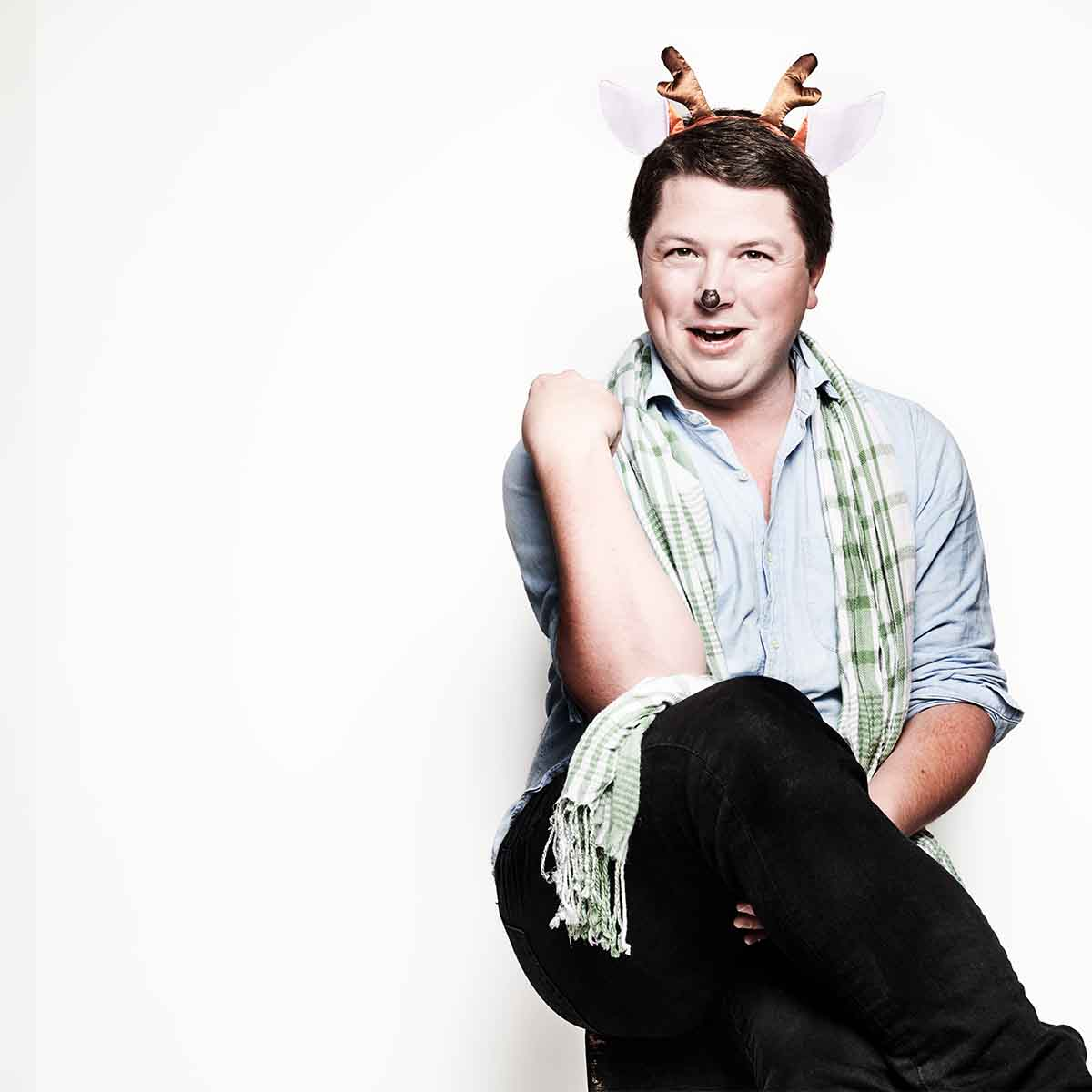 Patrick Bryant as Cupid in The 8: The Reindeer Monologues
