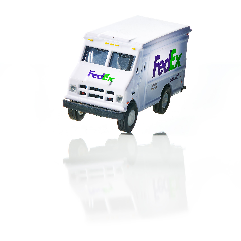 Toy Fedex Truck on White