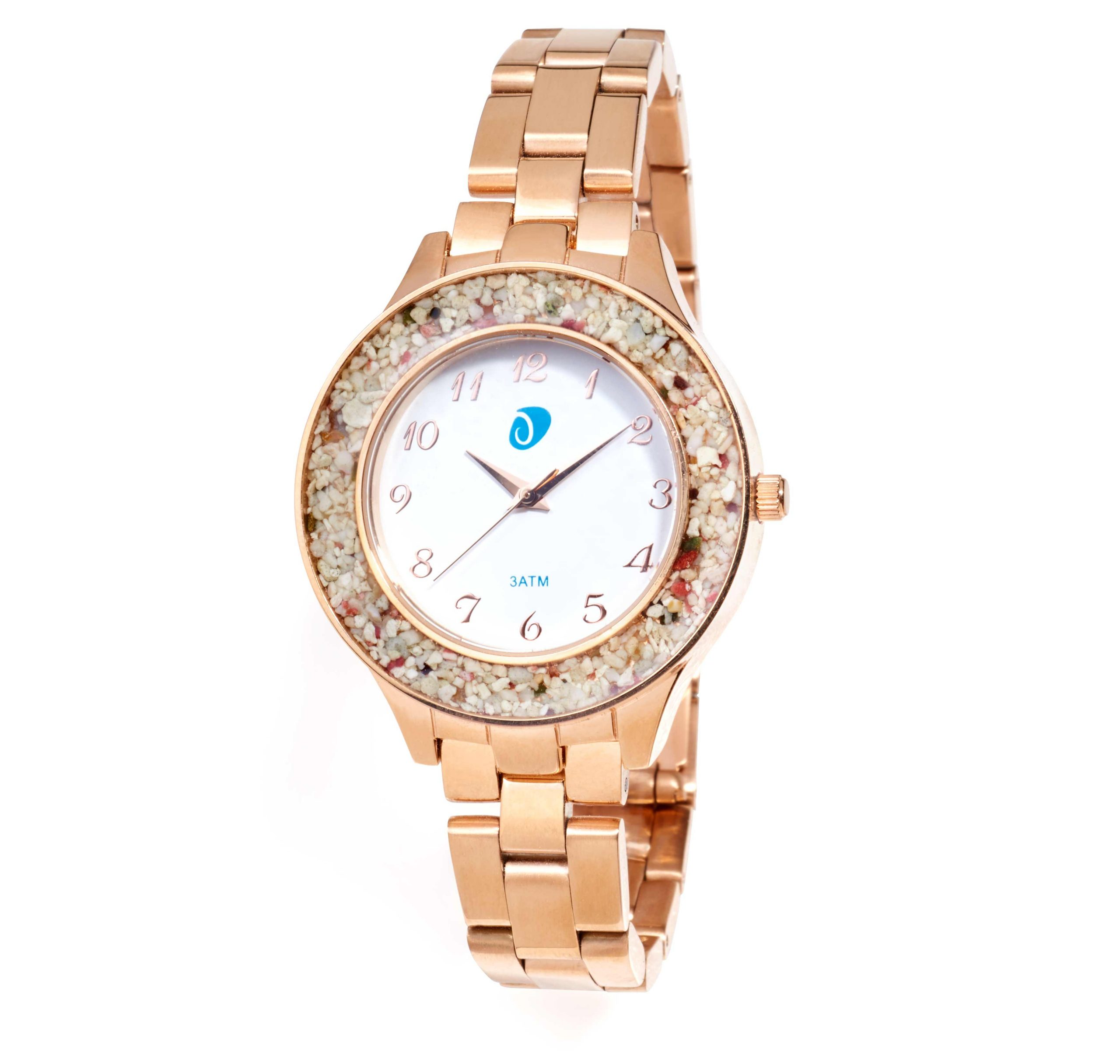 Jeweled Watch on White