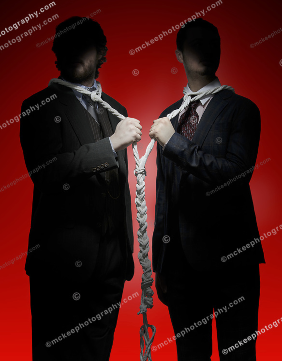 Stock Photo: We must all hang together