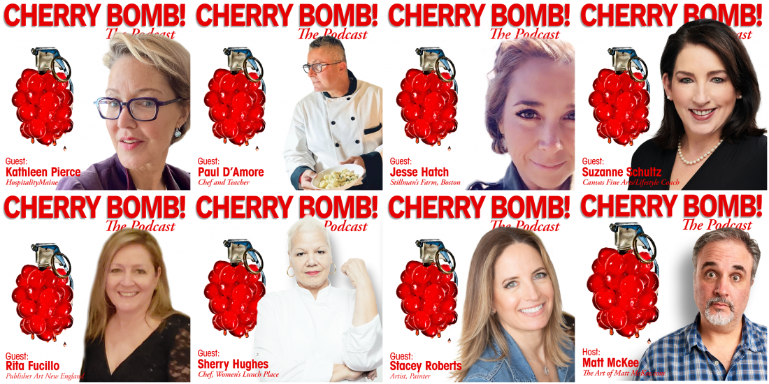 Cherry Bomb! The Podcast Cover Art