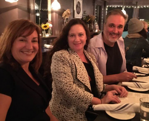Sallie Strand, Wendy Pitton and I at Tres Gatos after BNN interview