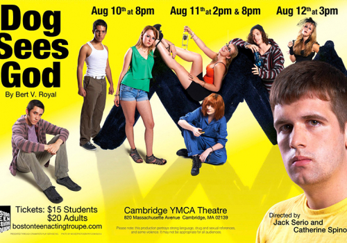 Dog Sees God poster, Boston Teen Acting Troupe