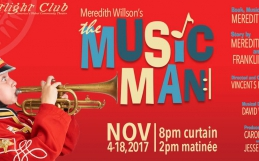 Meredith Willson's Music Man Poster for Footlight Club