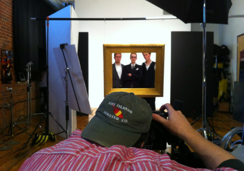 poster photography behind the scenes