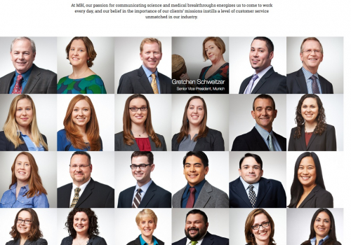 Portraits for Biotech firm