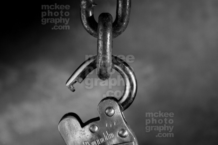 Unlocked and Free -Lock Stock Photo
