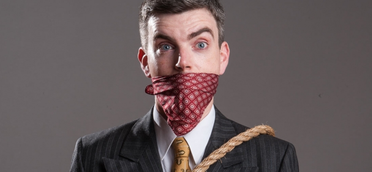 Stock Images – Tied up Business Man
