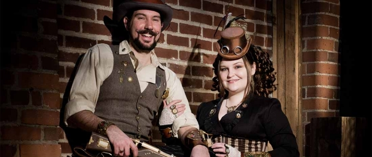 Nick and Jillian: Steampunk Portraits at the Studio