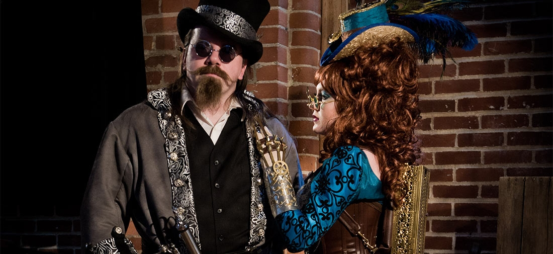 Madam Mercy and Dr. Phobeus –Steampunk Portraits at the Studio