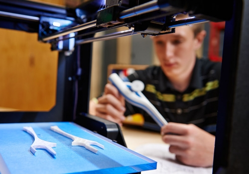 Admissions photography - Makerbot 3d printing