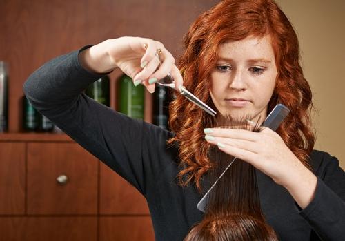 Admissions photography - cosmotology department