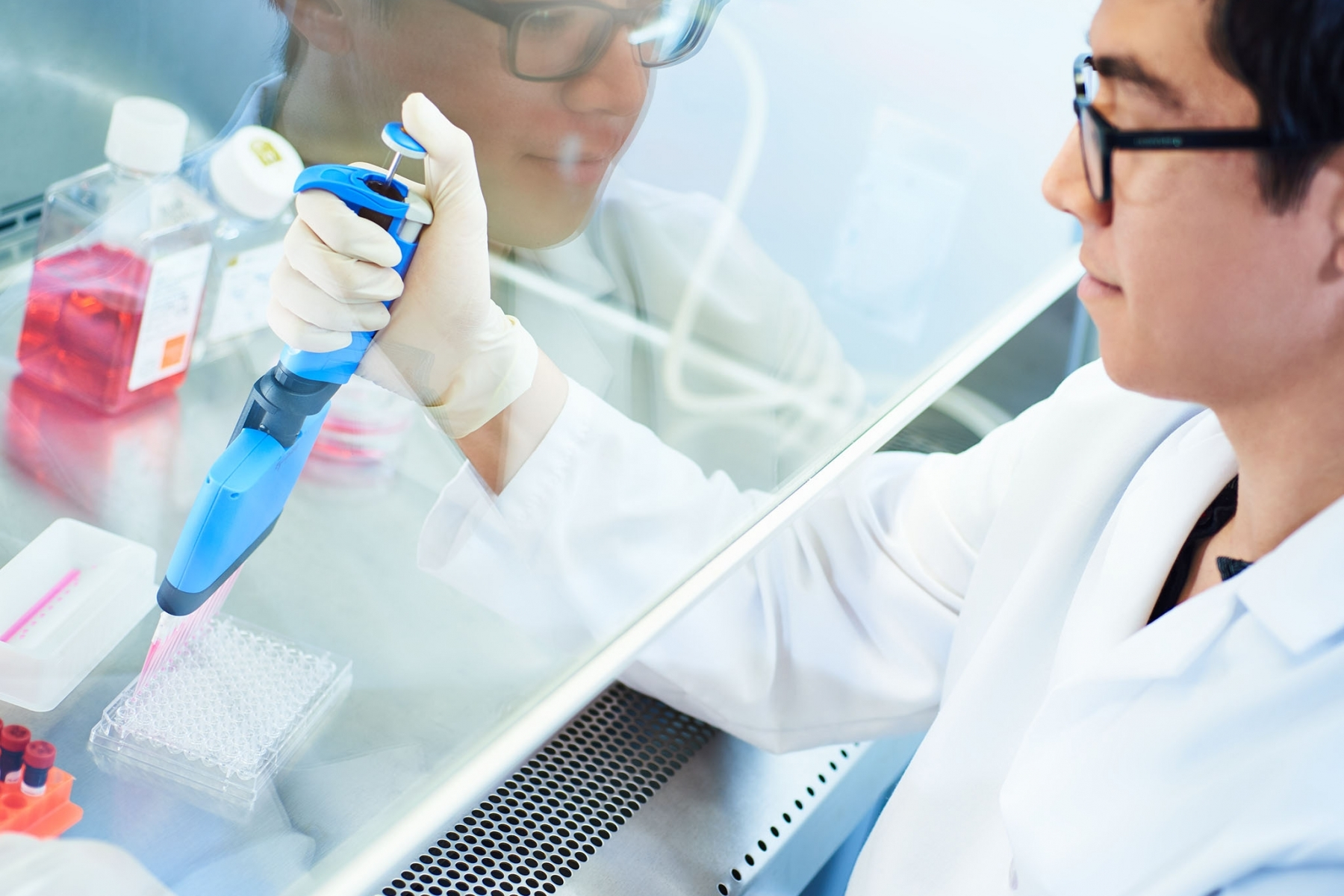 Pipetting under the hood